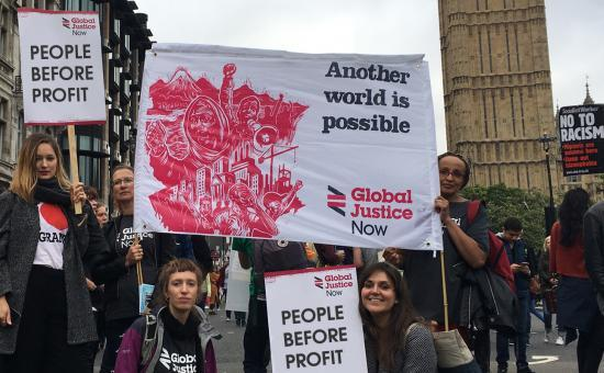 Thank you for deciding to support Global Justice Now. Your donation will help us campaign for justice and build a more equal world. We want to live in a world based on community, solidarity and hope. So we're campaigning to stop unjust trade deals, to cha