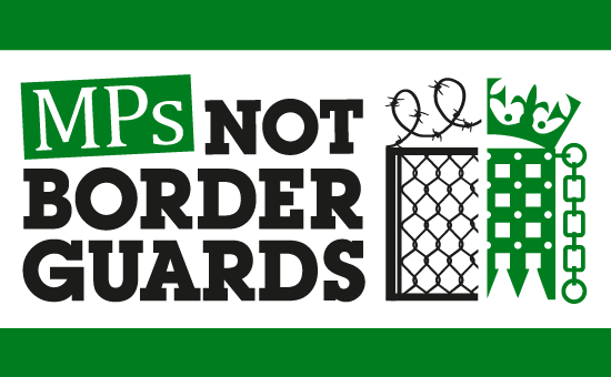MPs not border guards