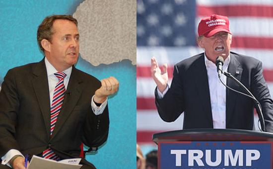 Liam Fox and Donald Trump