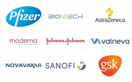 Big pharma companies logos