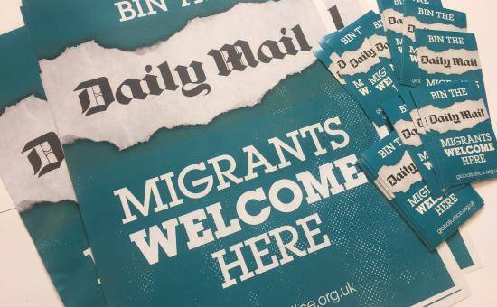 'Migrants welcome here' materials