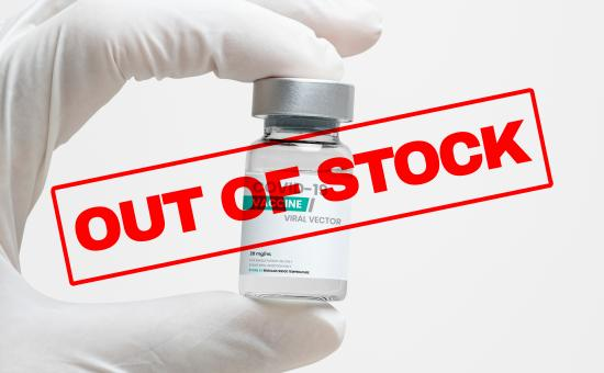 Covid vaccine out of stock